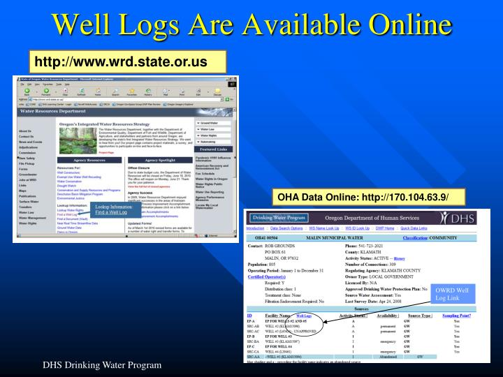 Well Logs Are Available Online