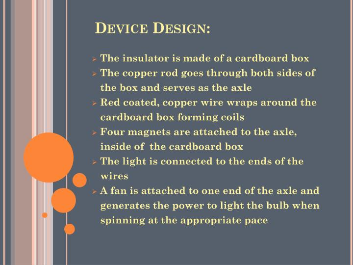 Device Design: