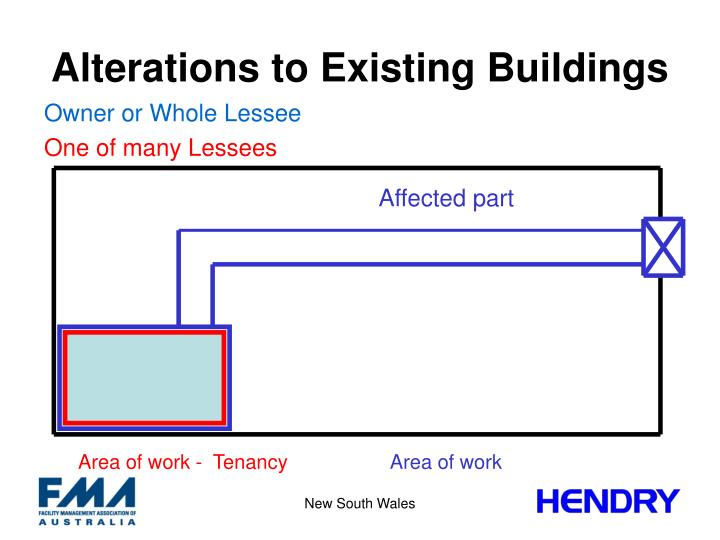 Alterations to Existing Buildings