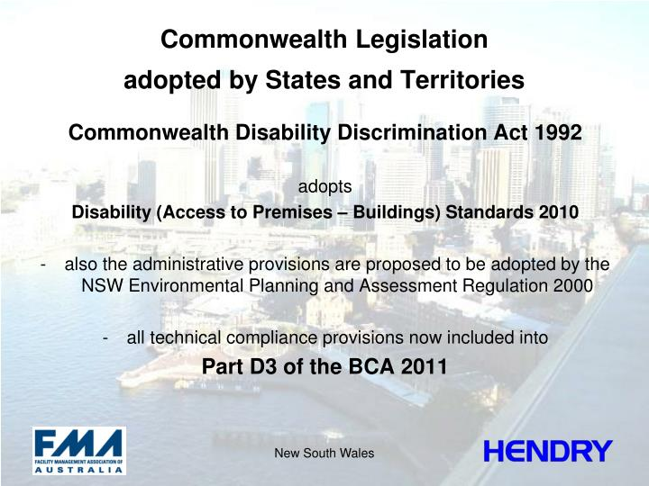 Commonwealth Legislation