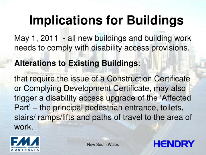 Implications for Buildings