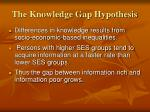 the knowledge gap hypothesis