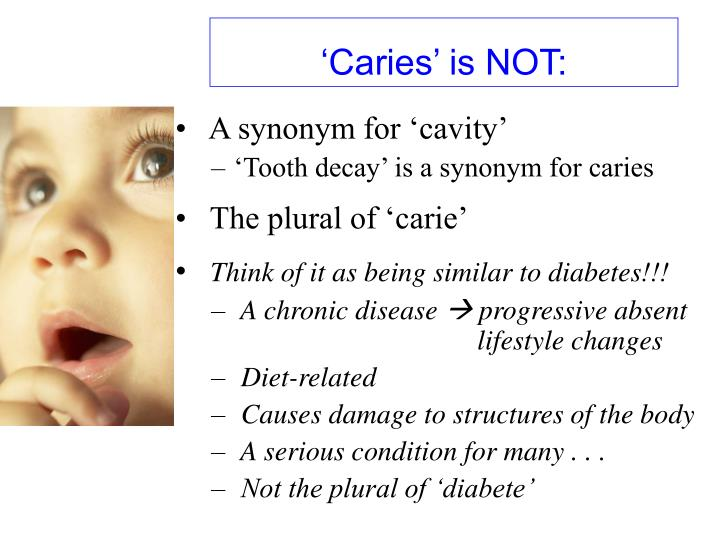 'Caries' is NOT: