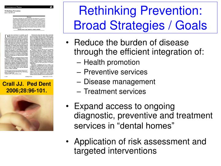 Rethinking Prevention: