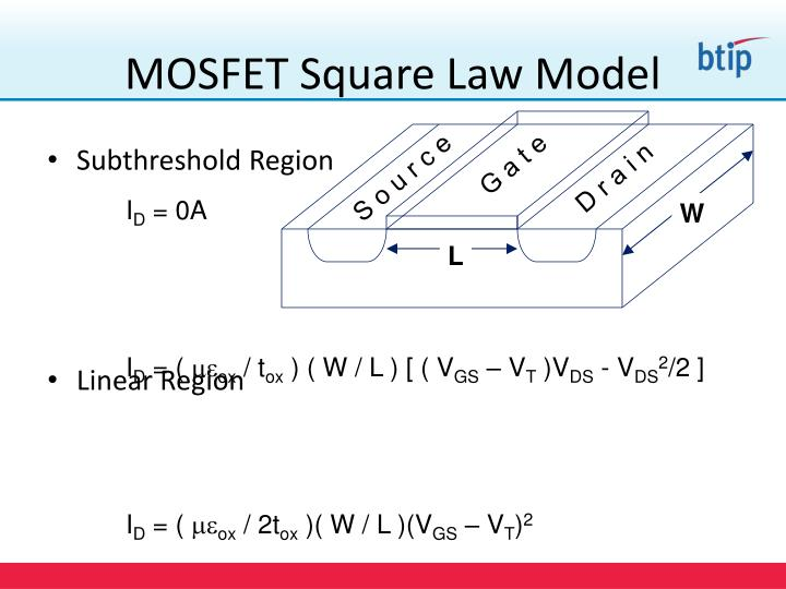MOSFET Square Law Model