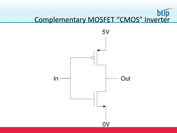 """Complementary MOSFET """"CMOS"""" Inverter"""