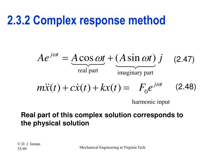 2.3.2 Complex response method