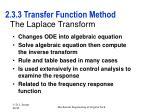 2 3 3 transfer function method