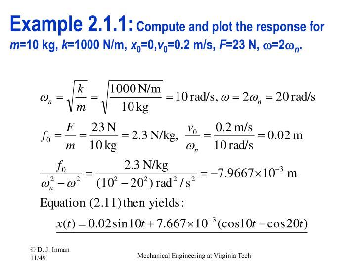 Example 2.1.1: