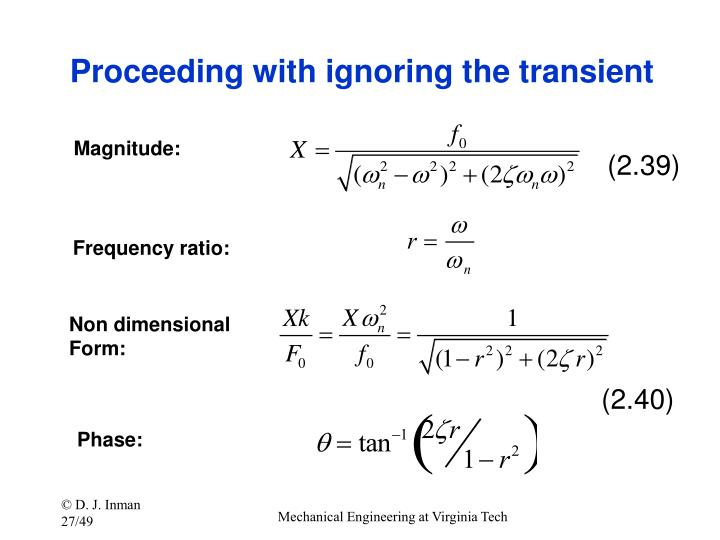 Proceeding with ignoring the transient
