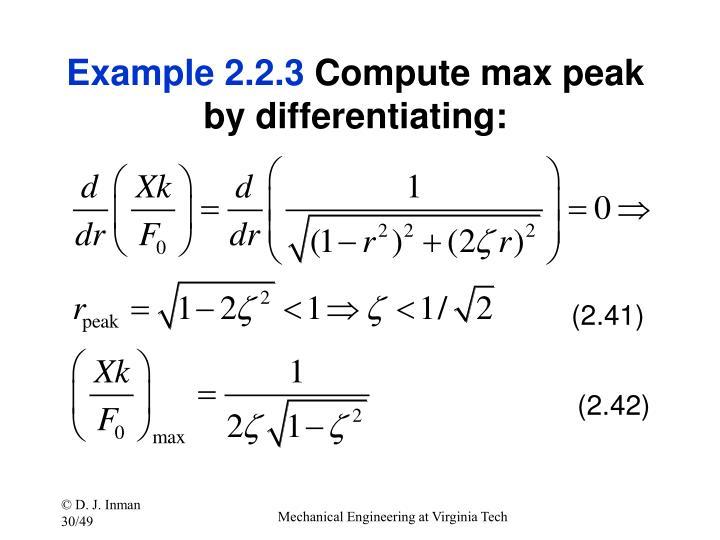 Example 2.2.3