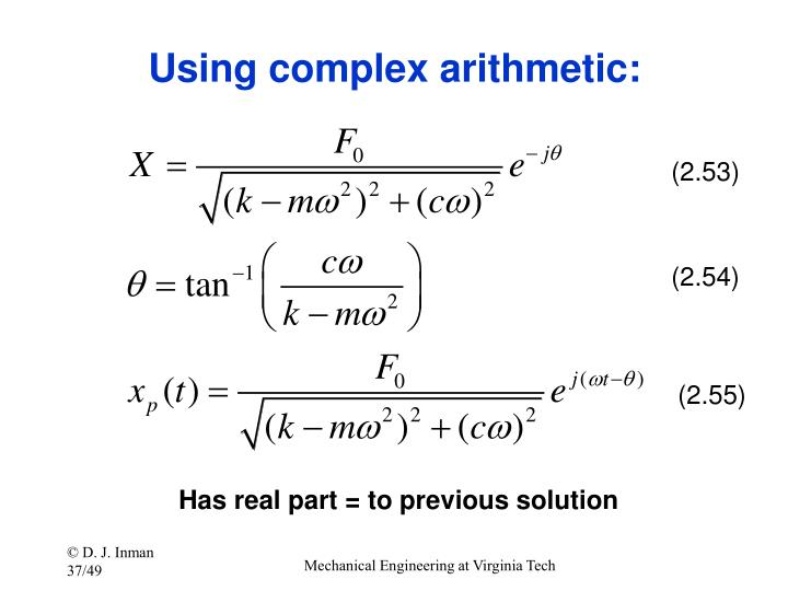 Using complex arithmetic: