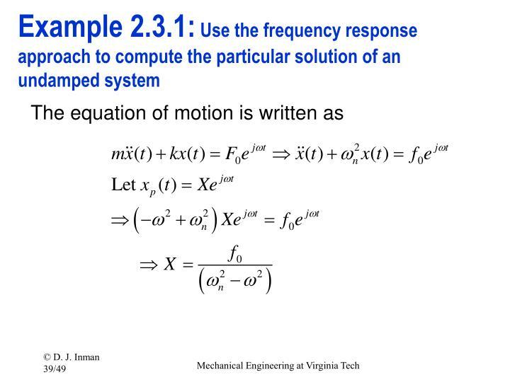 Example 2.3.1: