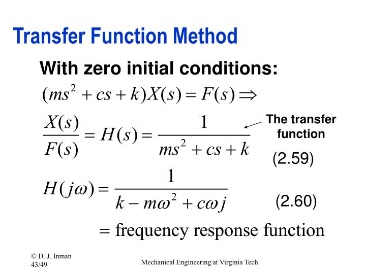Transfer Function Method