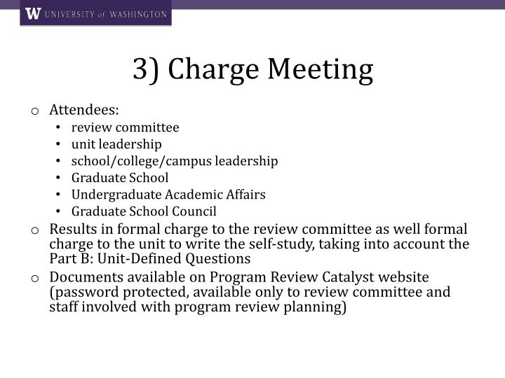 3) Charge Meeting