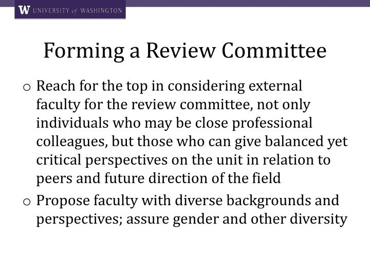 Forming a Review Committee