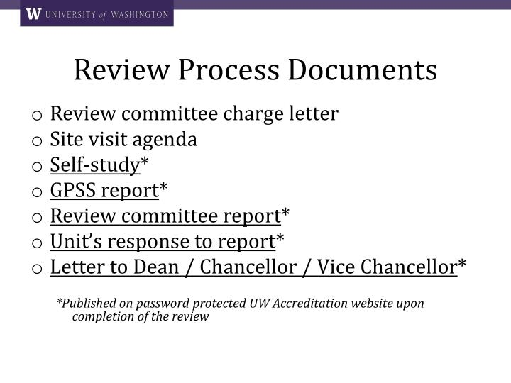 Review Process Documents