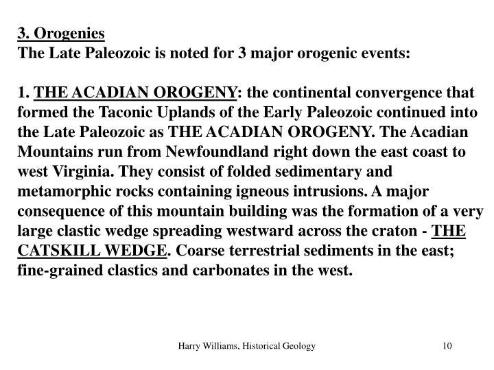 3. Orogenies