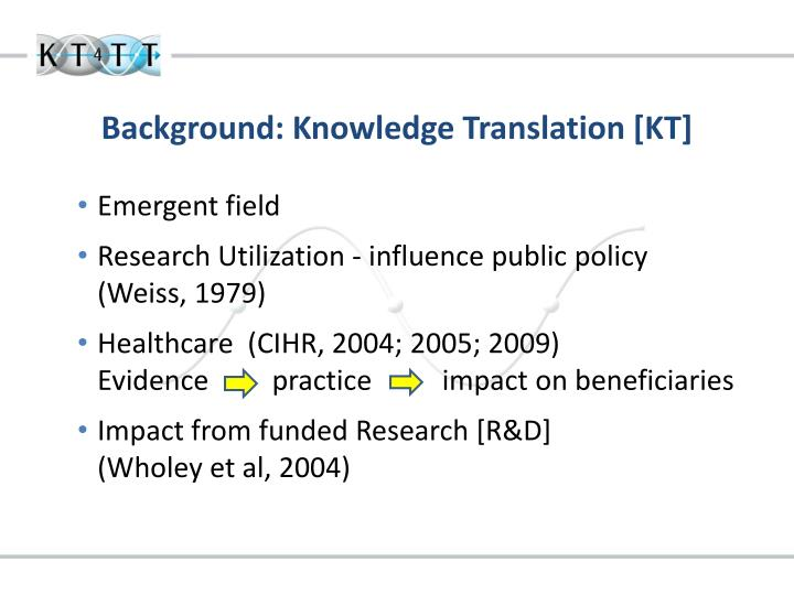 Background knowledge translation kt