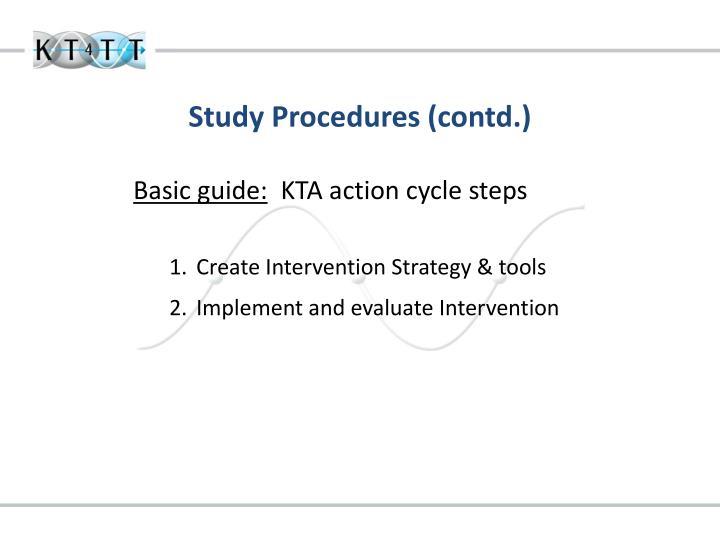 Study Procedures (contd.)