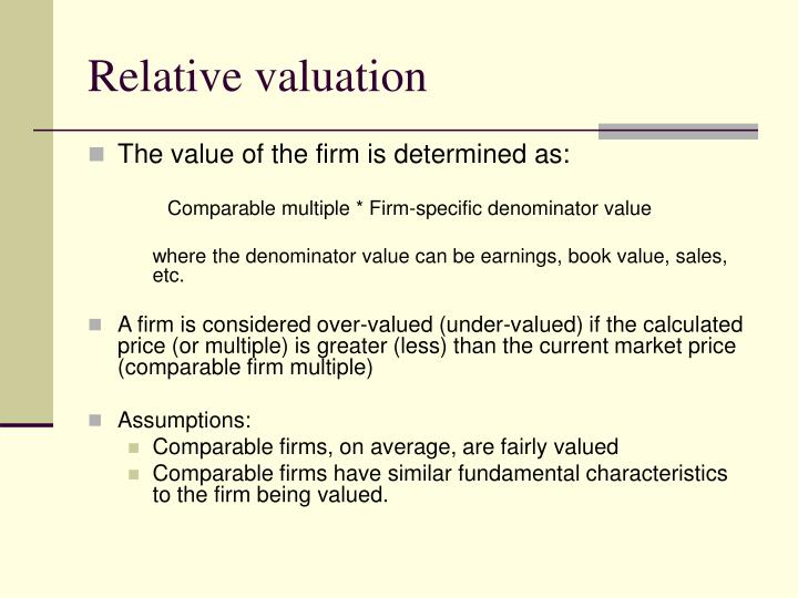 Relative valuation