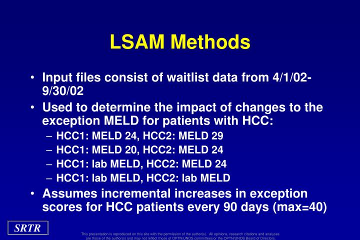 LSAM Methods