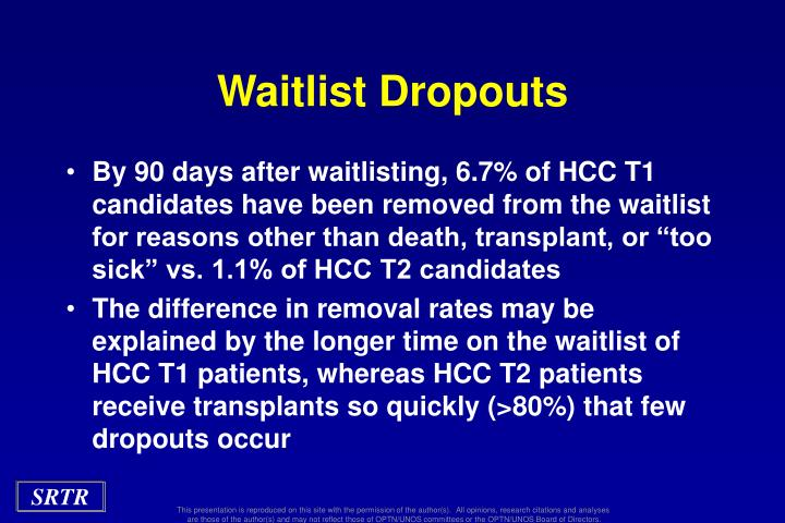 Waitlist Dropouts