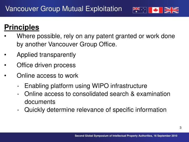 Vancouver Group Mutual Exploitation