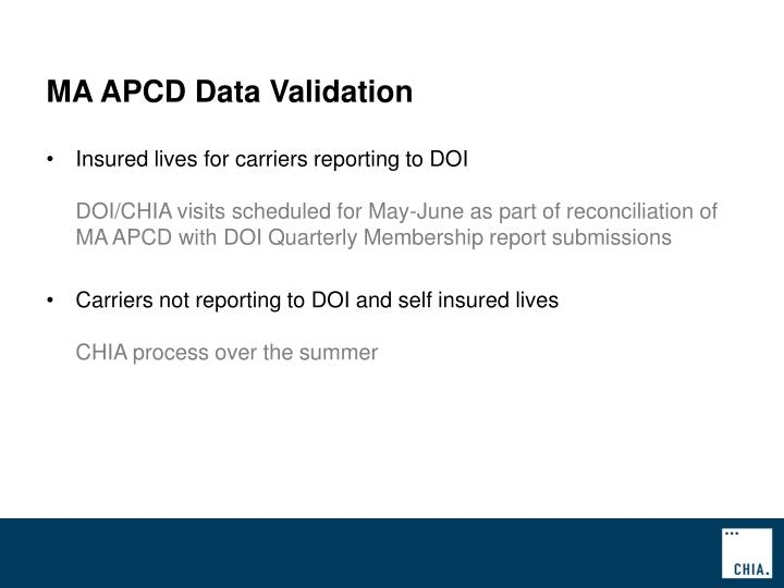 MA APCD Data Validation