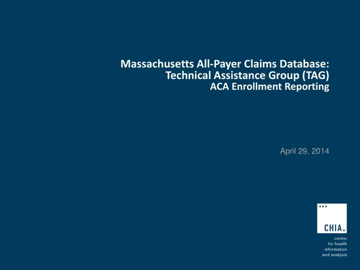 Massachusetts All-Payer Claims Database: