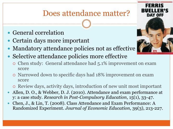 Does attendance matter?