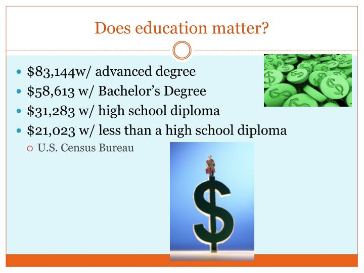 Does education matter?