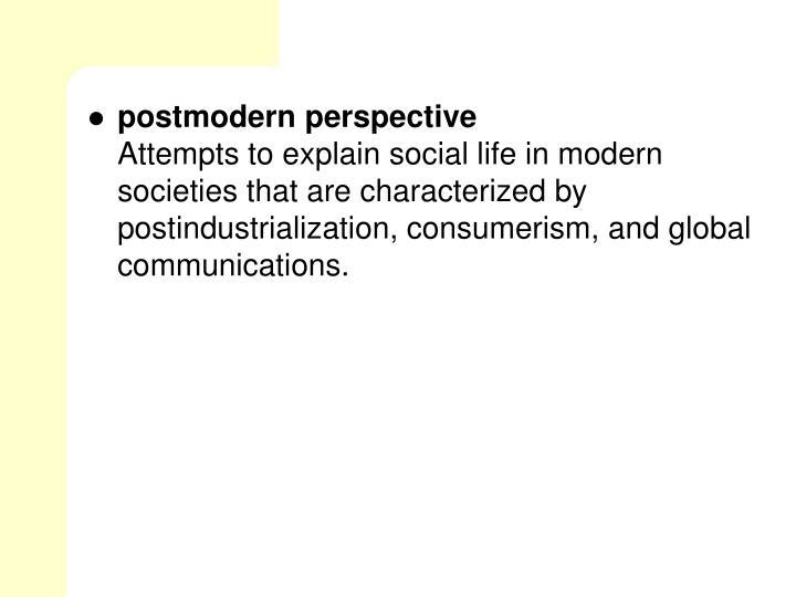 postmodern perspective