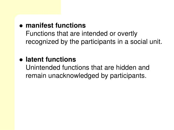 manifest functions