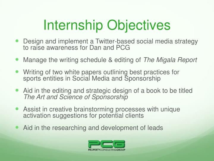 Internship Objectives