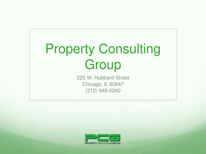 Property consulting group