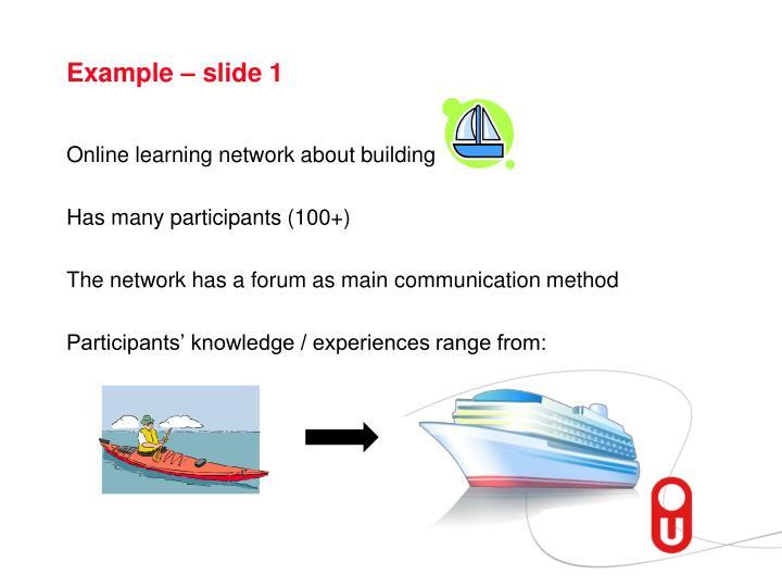 Example – slide 1