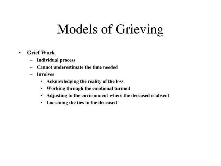 Models of Grieving