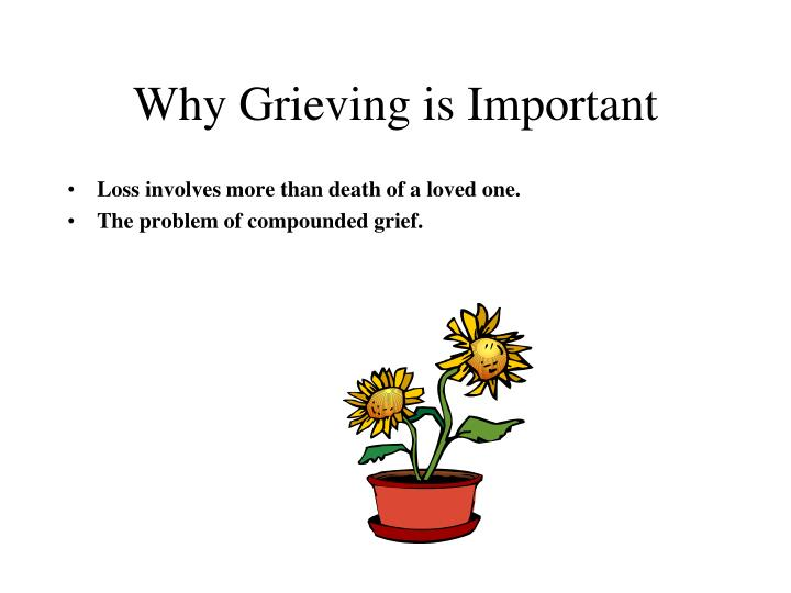 Why Grieving is Important