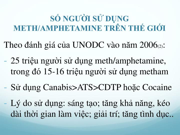 SỐ NGƯỜI SỬ DỤNG METH/AMPHETAMINE TRÊN THẾ GIỚI