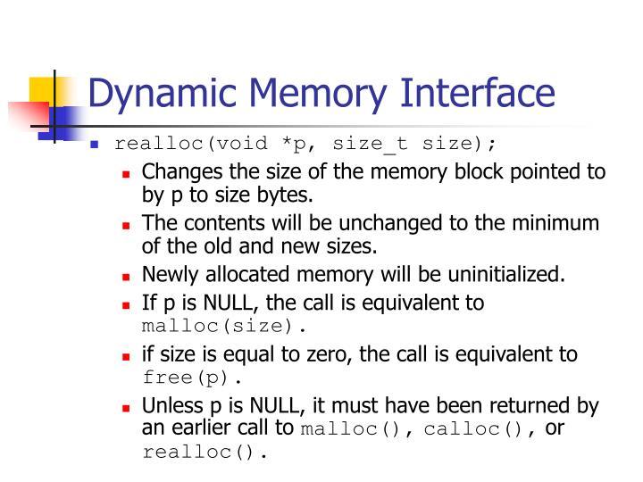 Dynamic Memory Interface