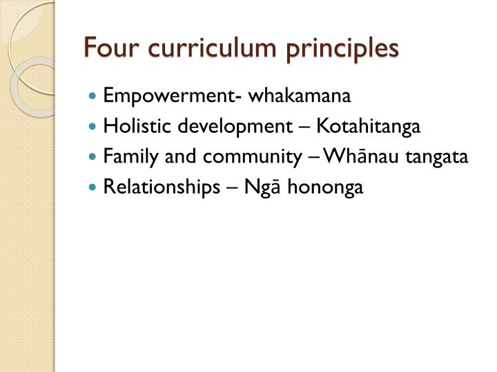Four curriculum principles