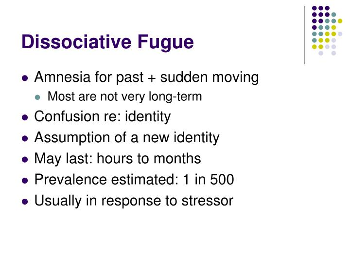 Dissociative Fugue