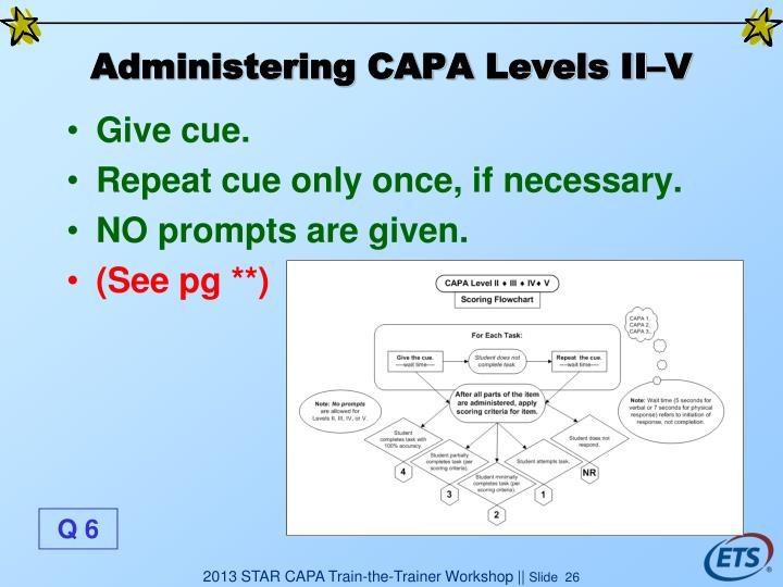 Administering CAPA Levels II–V