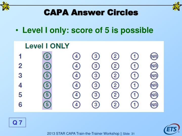 CAPA Answer Circles