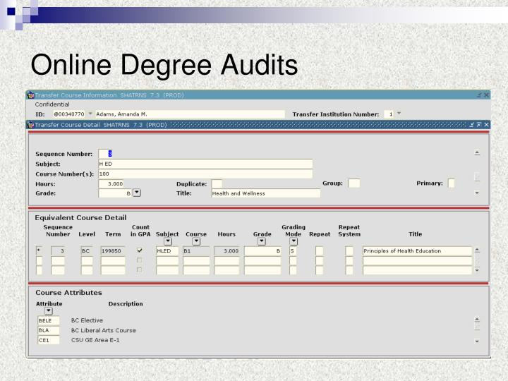 Online Degree Audits