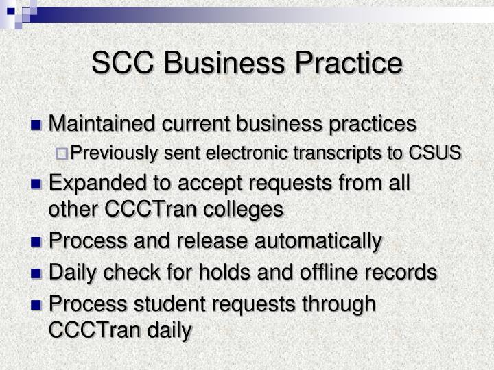 SCC Business Practice