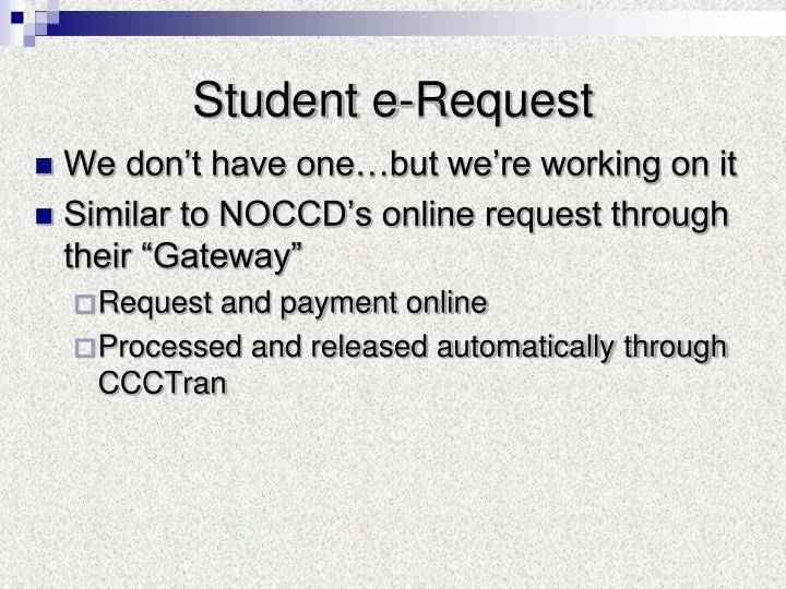 Student e-Request