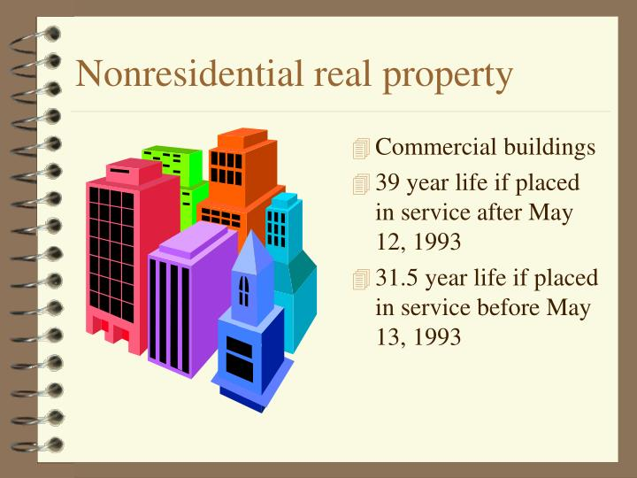 Nonresidential real property