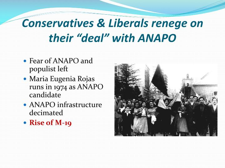 "Conservatives & Liberals renege on their ""deal"" with ANAPO"